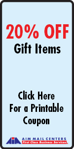 AIM Mail Centers Westlake Village 20% OFF Gift Items