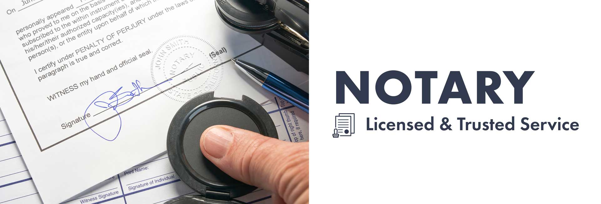 Notary - Licensed and Trusted Service